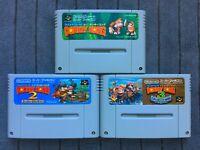 Super Donkey Kong 1 2 3 Super Famicom SFC SNES Nintendo Japan