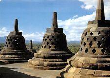 Indonesia Stupas on the Borobudur's Superior Terraces