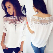 Fashion Womens Ladies Casual Loose Tops Short Sleeve T-Shirt Summer Blouse Tops*