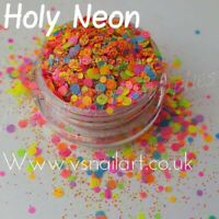 Summer Nail Art Glitter Mix Chunky Body Face Dots Polish Making Neon Bright 5G