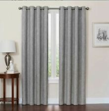 "Quinn 84"" Grommet Top Blackout Window Curtain Panel Grey"