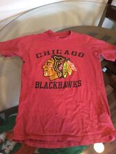 Chicago Blackhawks Red Logo NHL T-Shirt Small Good Condition