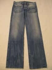 Japan Rags Mens Blue Button Fly Six Pocket Jeans Size 34 34x35