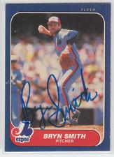 Autographed 1986 Fleer Bryn Smith - Expos
