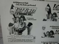 FAST TIMES AT RIDGEMONT HIGH Movie Mini Ad Sheet VTG Advertising Poster Clip Art
