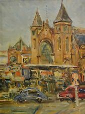 FLÖRKE,(XX). Expressionismus-Gemälde MÜNSTER / WESTFALEN MIT DOM (Westseite)