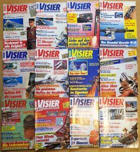 Visier 1992 komplett Waffen-Magazin Zeitschrift Pistolen Hefte Sammlung Jahrgang