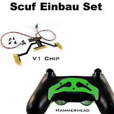 Ps4 Controller remapper soldadura con estaño, chip v1 + martillo verde paddles y tornillos