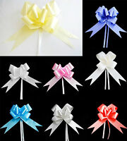 10 Pull Bows 30-50mm Wedding Car Gift Wrap Ribbon Florist Pew Xmas Decorations