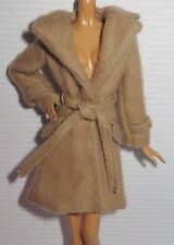 ~ COAT ~MATTEL ARTICULATED SILKSTONE BARBIE DOLL CLASSIC CAMEL TOP TRENCH JACKET