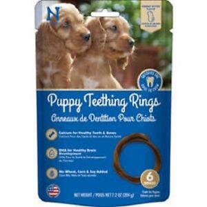 N-BONE Puppy Teething RING  PEANUT BUTTER Treat  6 Pak MADE IN USA