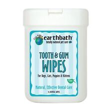 Earthbath TOOTH & GUM WIPES 25CT  Free Shipping
