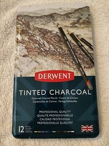 Derwent Tinted Charcoal Pencil Tin Of 12 Pencils (2301690)