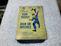 Vintage Cub Scout Official Knee Patches 1950s Original Package Great Artwork