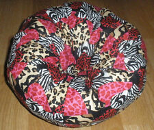 New large calico hearts hand craft bean bag chair fits American Girl size dolls