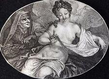 Jupiter et Danaé pièces d'or et mendiant miniature Bernard Picart XVIII