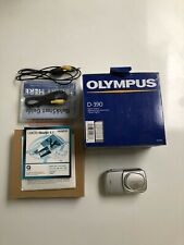 Olympus Camedia D-390 2.0MP Digital Camera - Silver, With Box, Works