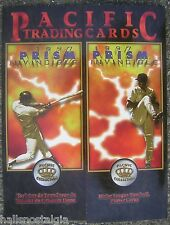 """1997 Pacific Trading Cards """"Prism Invincible"""" Baseball Cards Advertising Folder"""