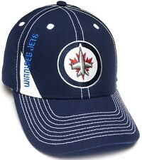 f032f100e Winnipeg Jets NHL Reebok Blue White Stitching Structured Hat Cap Mens  Adjustable