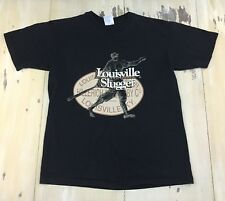 LOUISVILLE SLUGGER - Black Crewneck Baseball T-shirt, Sz Mens LARGE - MUST SEE!