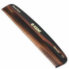 "Kent 7T 5 1/2"" Hand-Made All Fine Teeth Pocket Comb for Men & Women"