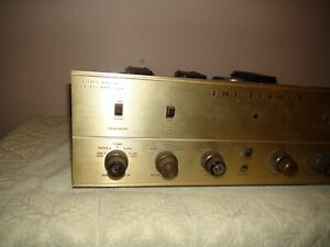 THE FISHER X-100-B 12ax7 7868 Tube Stereo  Integrated Amplifier Needs Tubes