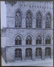 1903, Cloth Hall, Ypres, Belgium, Magic Lantern Glass Slide, Portion of Facade