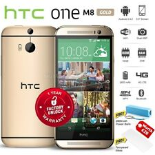 "New Unlocked HTC ONE M8 Gold 5"" FHD Quad Core 16GB 4G LTE Android Mobile Phone"