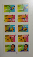 2014 SWEDEN ZLATAN IBRAHIMOVIC BOOKLET OF 10 MINT STAMPS