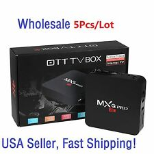 5/Lot MXQ Pro 4K S905X 2.0GHz 64Bits Quad Core Android 6.0 TV Box 1G+8G HDMI USA