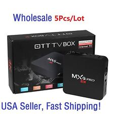 5Pcs MXQ Pro TV Box 4K S905X 64Bits Quad Core Android 6.0 1G+8G Wifi Updated Ver