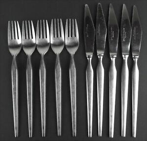 10 Pc SRI Stanley Roberts Ravenna Midcentury Japan Stainless Dinner Forks Knives