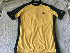 Vintage Sugoi Cycling Jersey Men's Large Yellow & Gray w/ 1/2 Zip