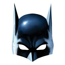 BATMAN Gotham Hero PAPER MASKS (8) ~ Birthday Party Supplies Favors Costume Blue