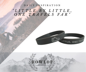 """Inspirational Wristband - """"LITTLE BY LITTLE, ONE TRAVELS FAR"""""""