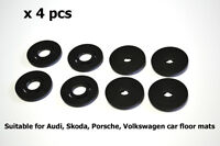 Carmats Round Fittings Fixation Clips for Audi Floor Mat Fasteners Holder 4pc