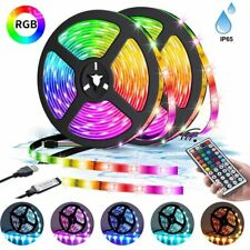 5050RGB Waterproof LED Strip Lights TV Backlight  Colour Changing +RemoteControl