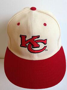 Vintage Kansas City Chiefs Hat Size 7 Red/Cream New Era 5950 Pro Model Team NFL