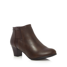 Good for the Sole - Brown 'Gean' mid wide fit ankle boots UK 5 EU 38 NH086 FF 01
