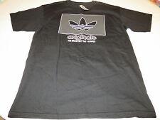 Adidas TEE cotton t shirt black 001 L Men's Originals brand with three stripes