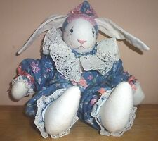 VINTAGE CREATIONS EASTER PLUSH BUNNY RABBIT STUFFED DOLL ANIMAL 16""