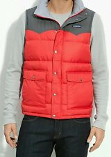 $219 PATAGONIA SLINGSHOT DOWN PUFFER WESTERN VEST Men's M RED & GRAY jacket