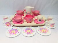 Vintage Play Dishes Fisher Price Pink Tea Set (Partial) Barbie Chilton 1980s