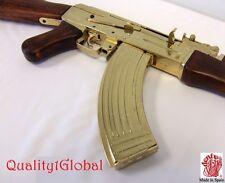 SALE EURO WOOD  METAL REPLICA 1:1 GOLD AK-47 FULL STOCK MOVIE PROP GUN DENIX SMG