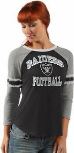 G-III 4her Oakland Raiders Women's On The Field 3/4 Sleeve Raglan Shirt
