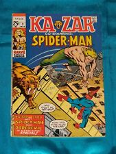 KAZAR # 3, Mar. 1971, SPIDER -MAN! DAREDEVIL! X-MEN ANGEL STORY! VERY GOOD