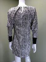 BCBG MAXAZRIA Women's Black, Gray & Cream Dress~ SIZE XS