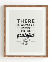 "Framed Wall Art "" There Is Always Something To Be Grateful For"" 14 X 16.5"
