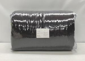 NEW Pottery Barn Belgian Flax Linen FULL/QUEEN Comforter~Ebony