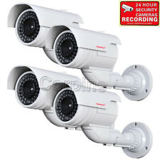 4x Dummy Security Cameras Fake IR LEDs Flashing Light CCTV Surveillance Home WQC
